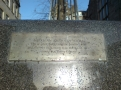 "Hunter Square, Ian Hamilton Finlay, inscription, ""The scarlet hypo and the hindberrye / And the nut that hung frae the hazel tree"" (James Hogg)"