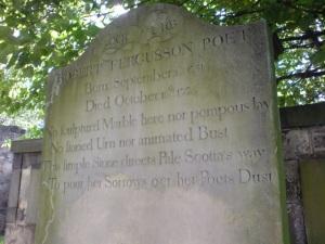 Burns Fergusson epitaph