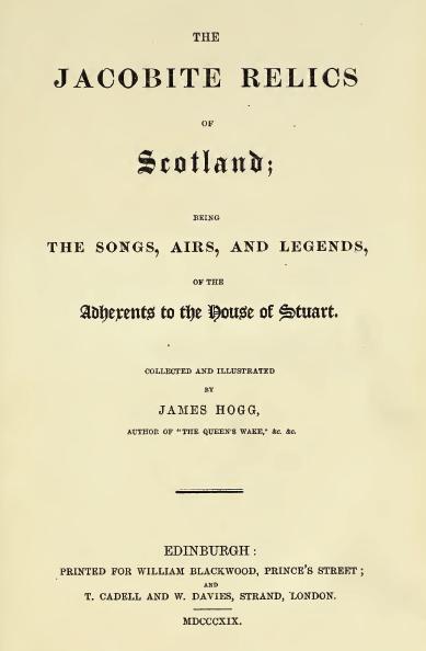 Hogg Jacobite Relics 1819